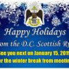 Happy Holidays from the DC Scottish Rite